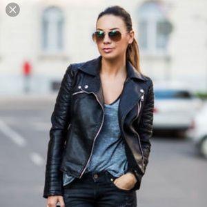 ZARA faux-leather Moto jacket